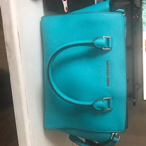 Teal Michael Kors handbag